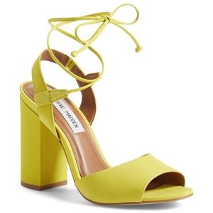 Steve Madden yellow 'serrina' block heel sandals